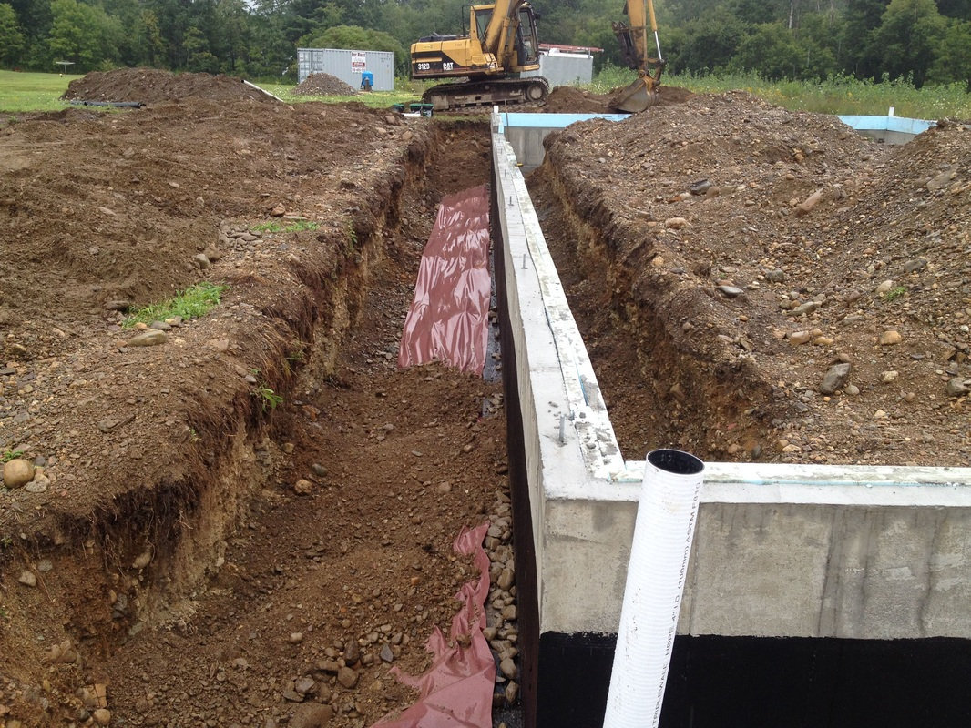 Foundation coating and perimeter drain under the sun blog for Drainage around house